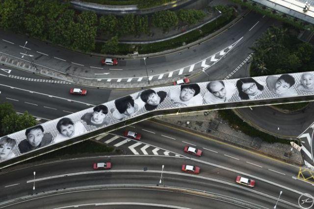 'Inside Out', HK, 2012. Image courtesy of www.jr-art.net