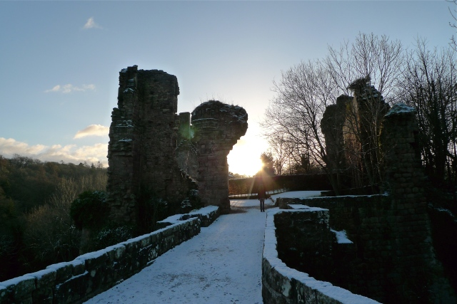 The ruins of Roslin Castle