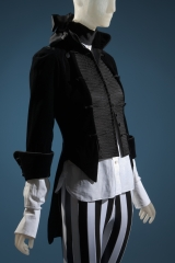 Ensemble: Shirt and jacket by Daphne Guinness; pants from London punk shop