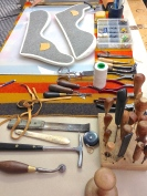 Tools for the making of the saddle seat