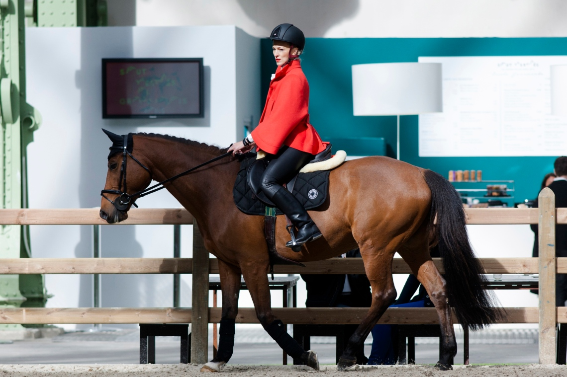 I was thrilled to try out Hermes' new Cavale saddle on a former Grand Prix horse