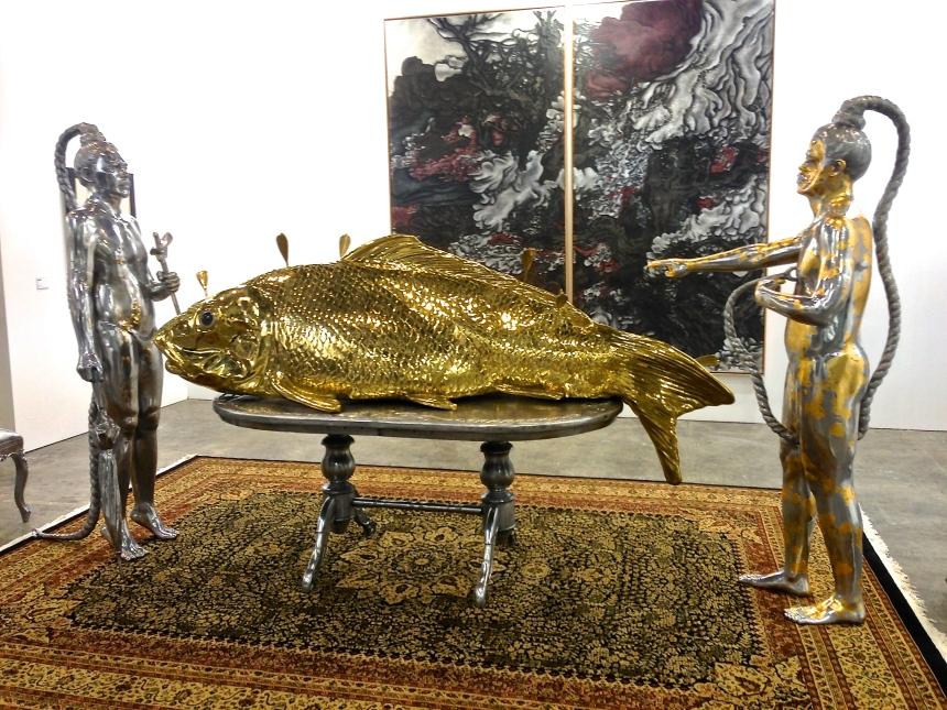 Indonesian artist Entang Wiharso at Arndt Gallery