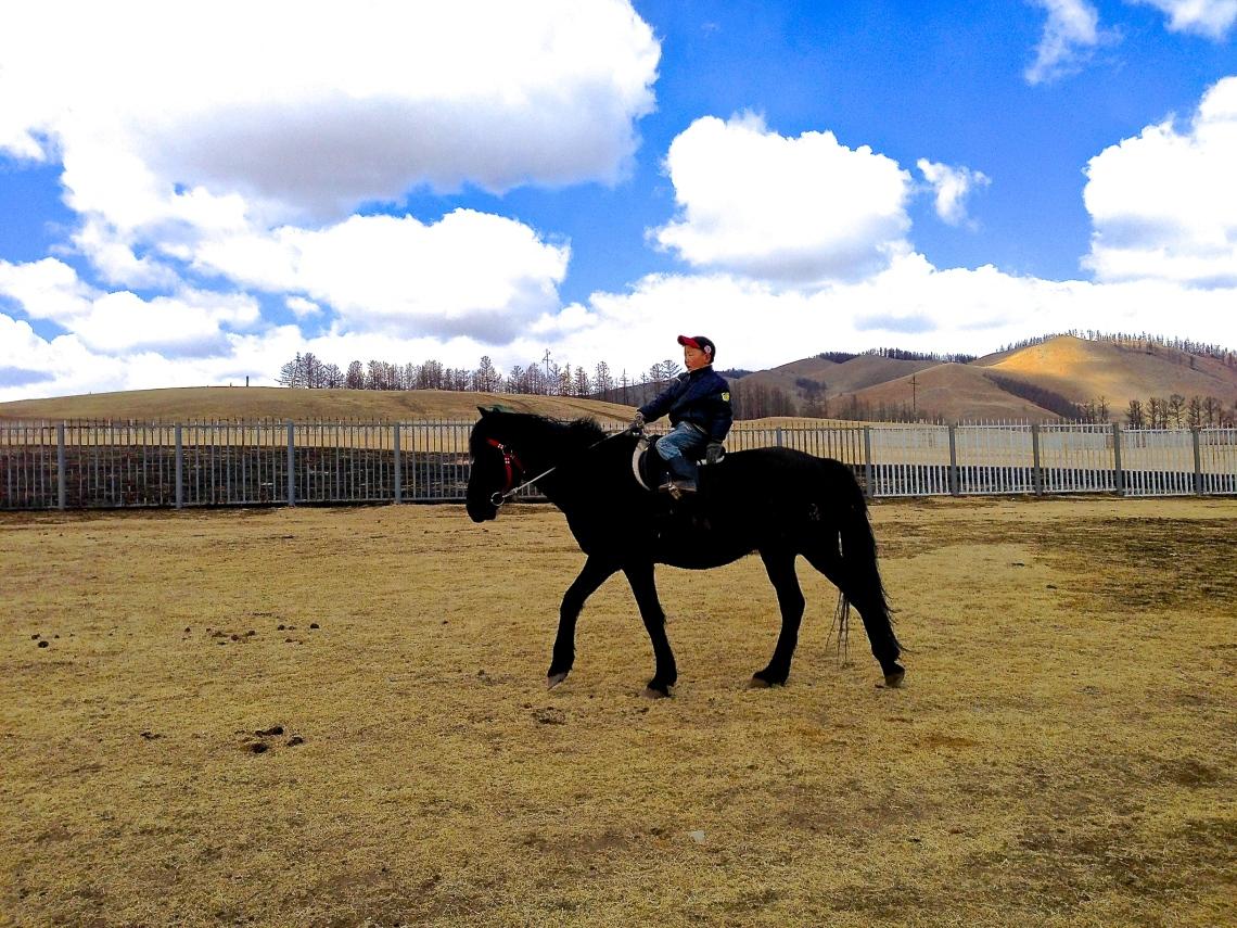 Riding nearby Terelj Hotel,  Gorkhi National Park