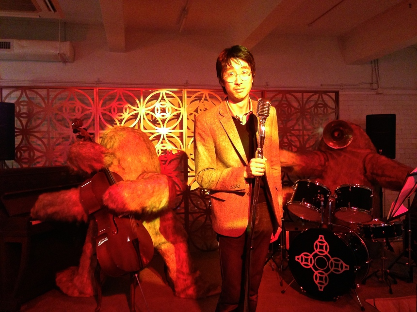 Adrian Wong at his Absolut Art Bureau Bar installation