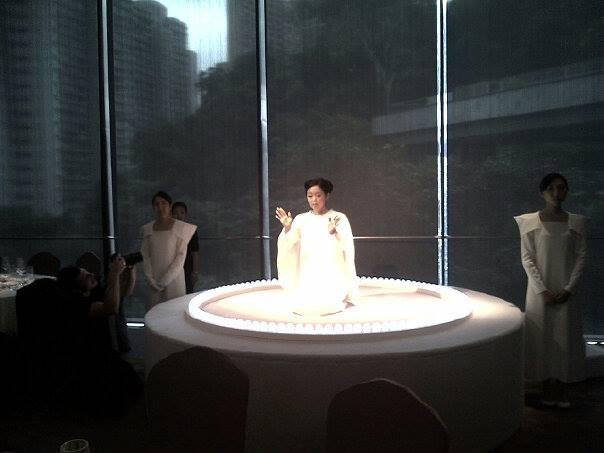 Mariko Mori, performance of 'Oneness' at Asia Society gala dinner, HK. Photo courtesy of Stefano Todiglione