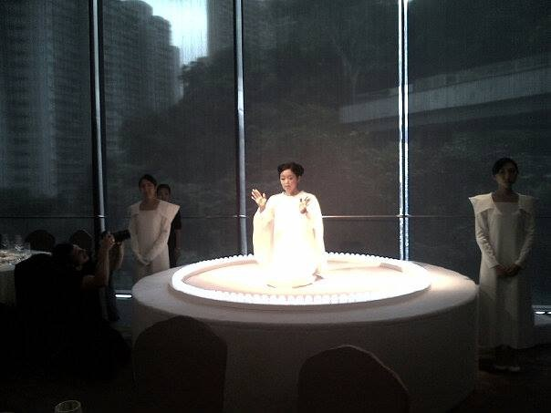 Mariko Mori, performance of 'Oneness' at Asia Society gala dinner, HK. Photo courtesy of Stefano Todiglione