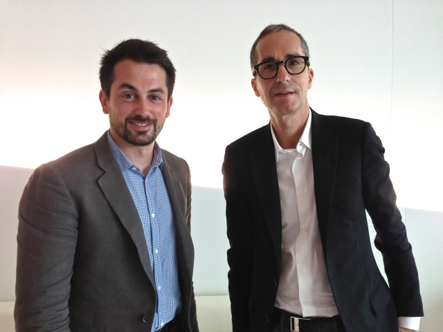 Curators Pierre Lefort and Herve Mikaeloff