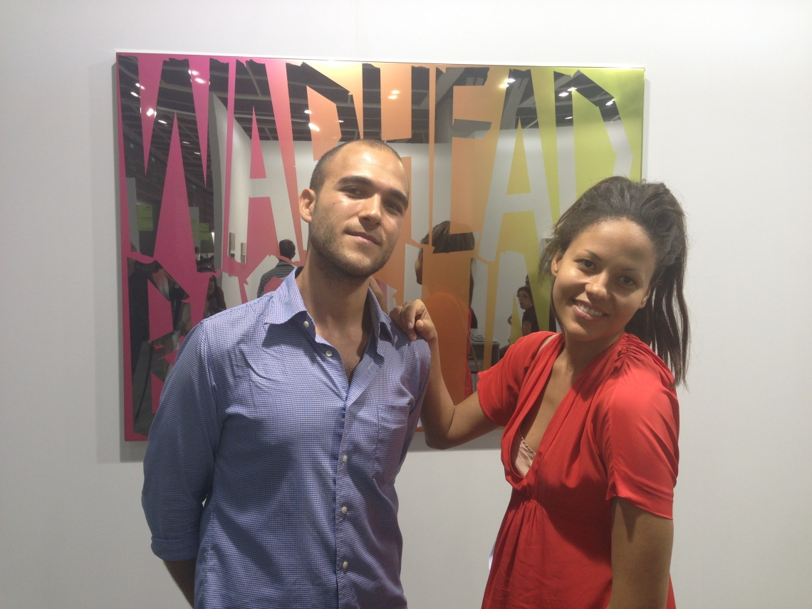 The Moving Museum's Simon Sakhai and Quintessentially Art's Rachael Barrett