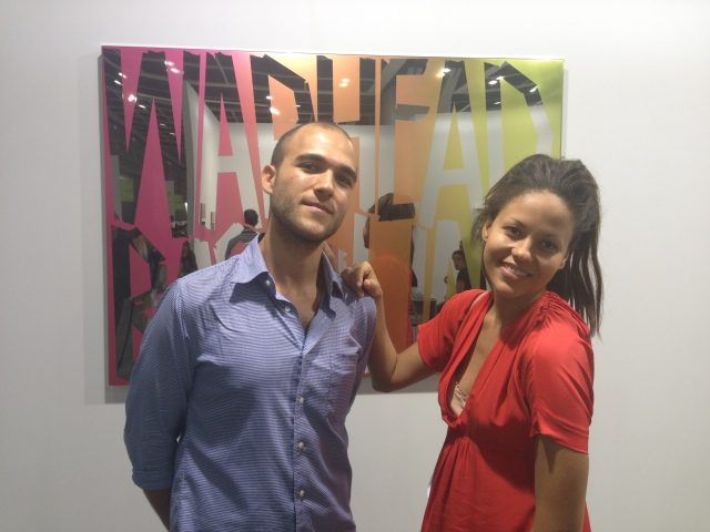 The Moving Museum's Simon Sakhai and Quintessentially Art's Rachael Barrett