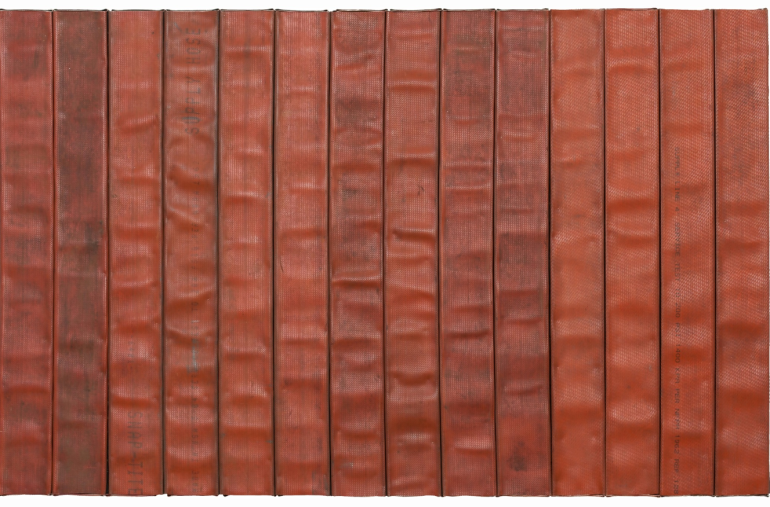 Theaster Gates, 'Red Line With Black Soot and Enthusiasm', 2013. Kavi Gupta Gallery.
