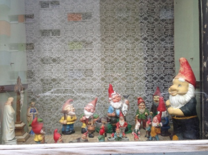 A bit of whimsy in the window of a Kreuzberg apartment