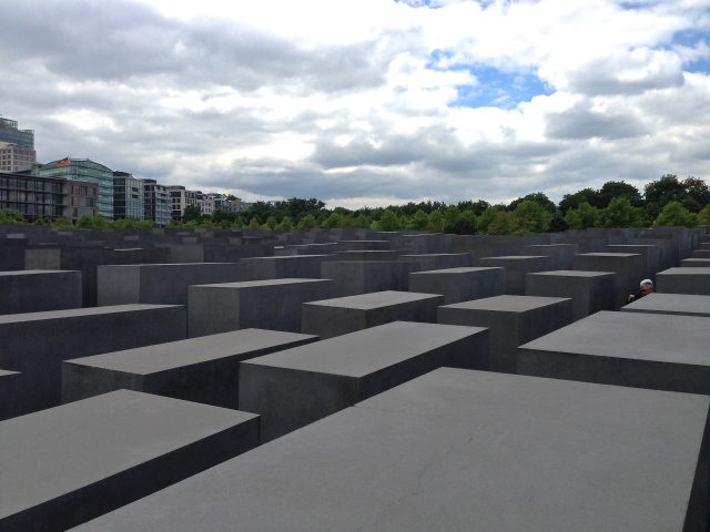 The Berlin Holocaust Memorial, by architect Peter Eisenman, sits between East and West Berlin