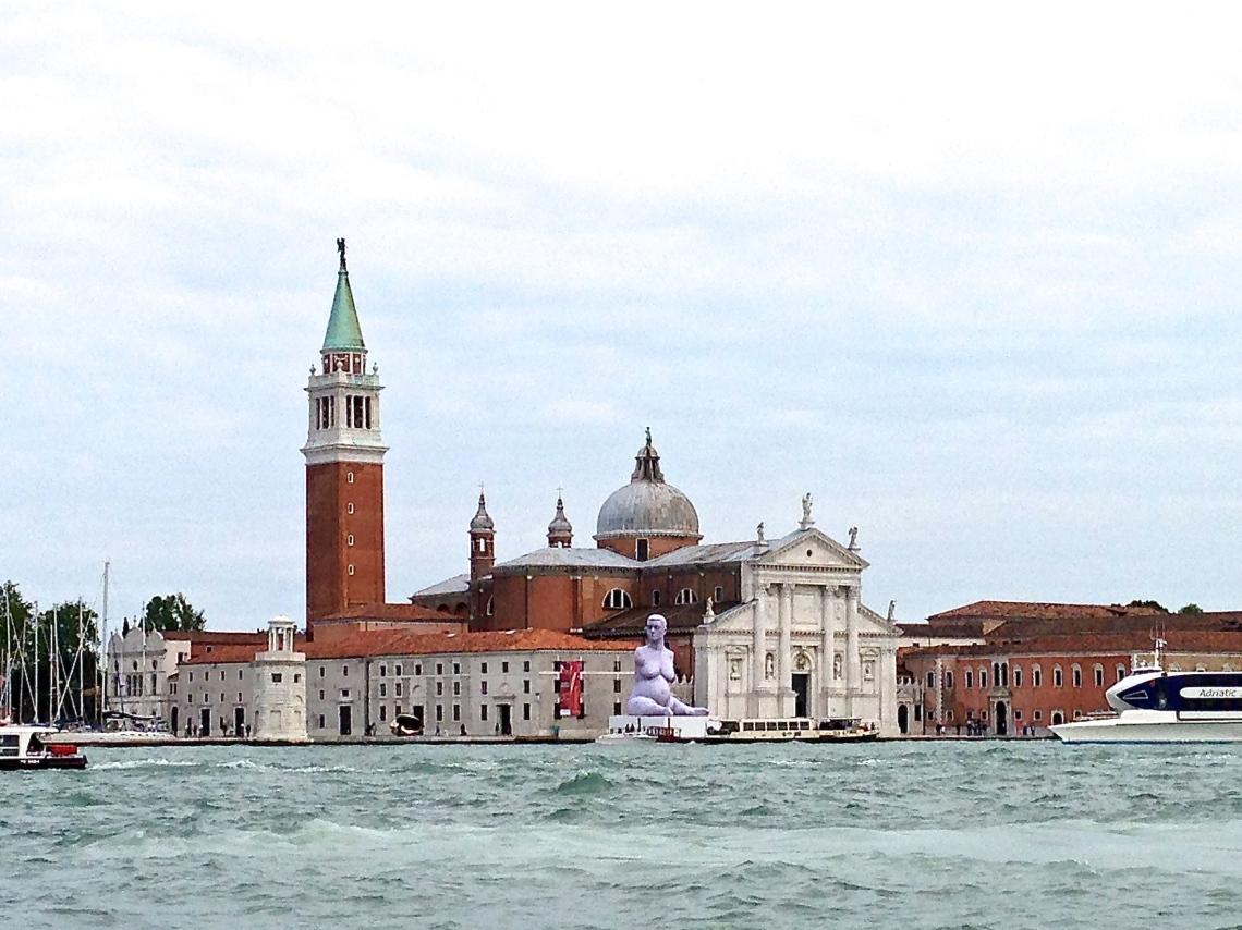 Marc Quinn's 'Alison Lapper Pregnant' at San Giorgio Maggiore island