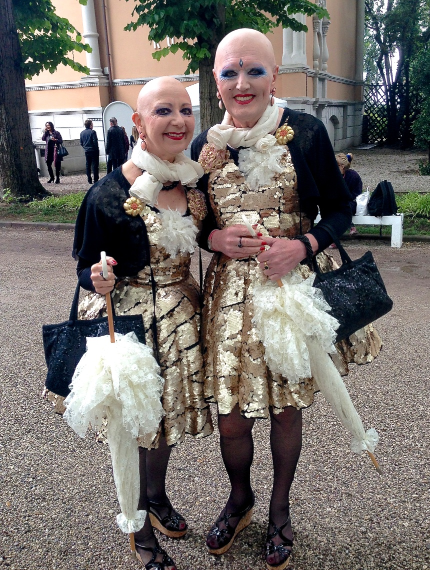 Adele (left) and Eva (right) at the Venice Biennale
