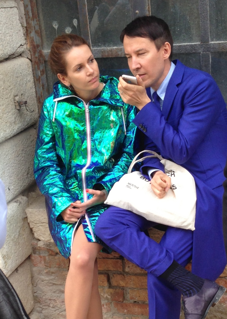 Russian artists Margot Trushina and Salavat Timiryasov in technicolour