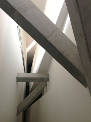 The interior of the Daniel Libeskind designed Jewish Museum