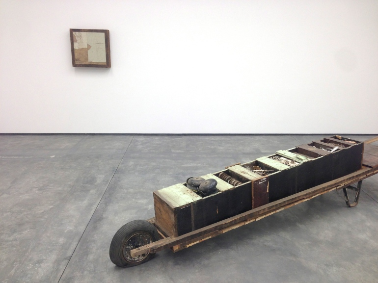 'Rickshaw for Hardware', 2013 Wood, metal and wheel