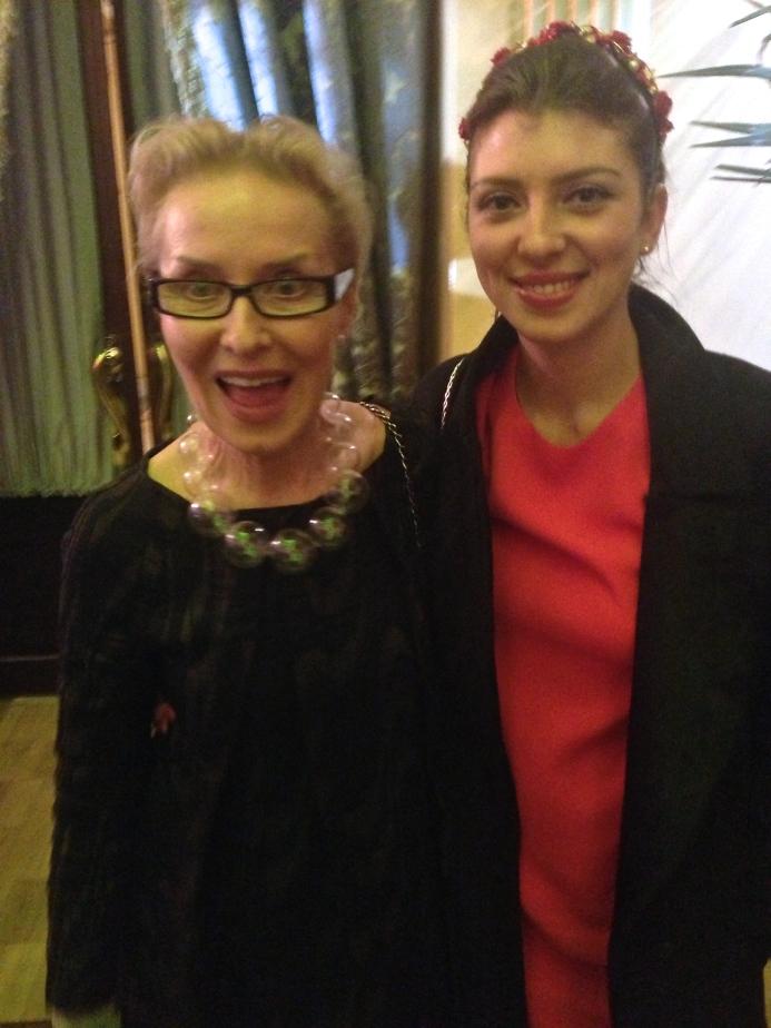 Curator Olga Sviblova and Phillips de Pury's Svetlana Marich