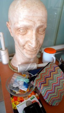A plaster bust of Osama Bin Laden