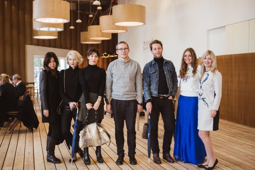 The art gang with Garage director, Anton Belov: (left-right) Isabella Prata, Me, Lauren Prakke, Anton Belov, Derek Blasberg, Oxana Smirnova, Sigrid Kirk
