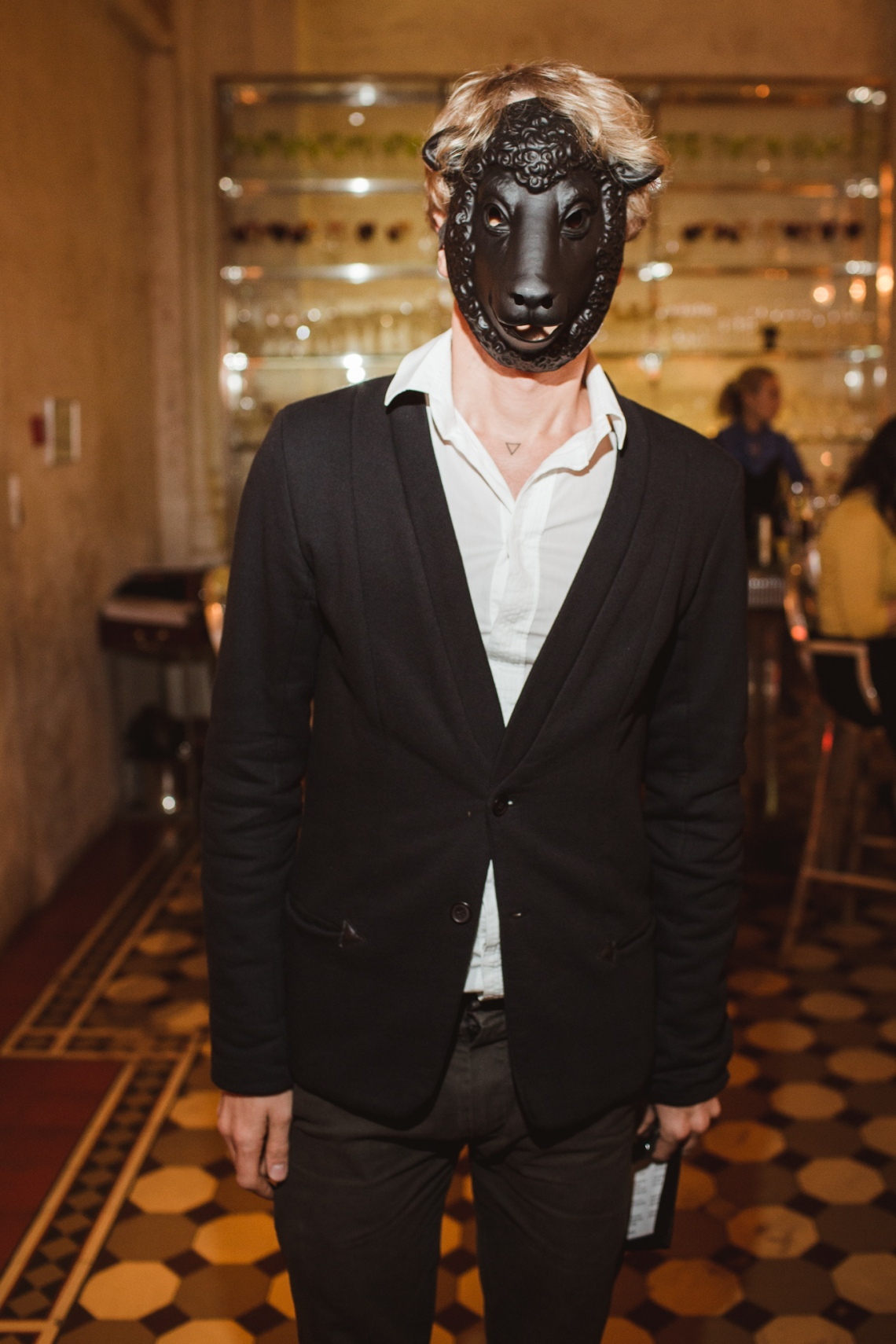 Performance artist Fyodor Pavlov Andreevich. Photo courtesy of Metropol Hotel