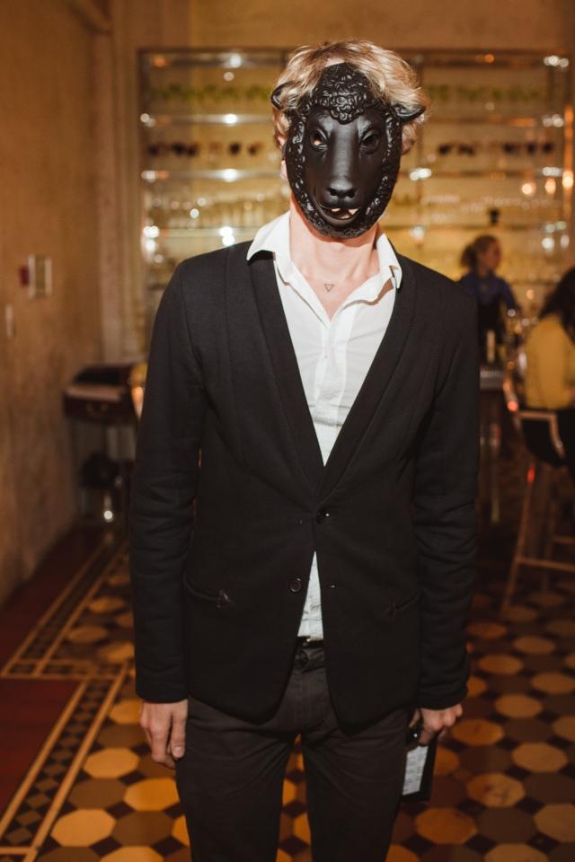 Performance artist Fyodor Pavlov Andreevich. Photo courtesy of Metropol Hotel