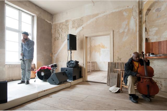 '12 Ballads for Huguenot House', 2012.  Photo: Nils Klinger