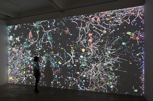 Jennifer Steinkamp, 'Diaspore1', installation view, Hong Kong. Photo by Kitmin.com