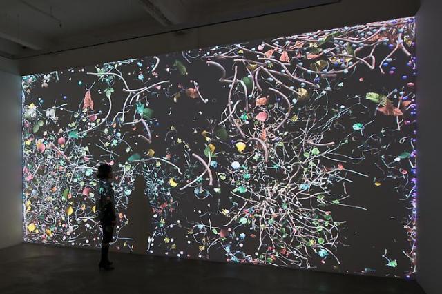 Jennifer Steinkamp, 'Diaspore1', installation view, Hong Kong. Photo by Kitmin.com