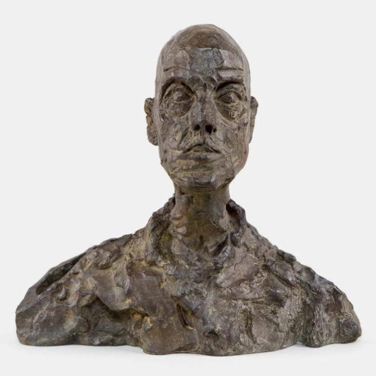 Alberto Giacometti, Head of a Man, (Lotar I), c. 1964-65,  © 2014 Alberto Giacometti Estate.