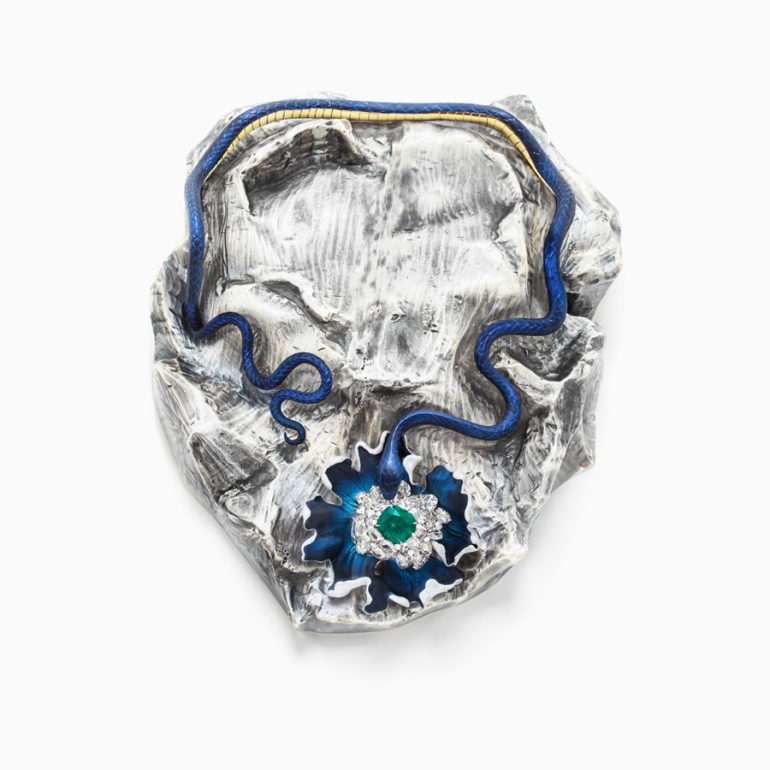 'Lunae Lumen Satine Mummy Blue', 2013. © Victoire de Castellane. Courtesy Gagosian Gallery. Photography by Vito Flamminio.