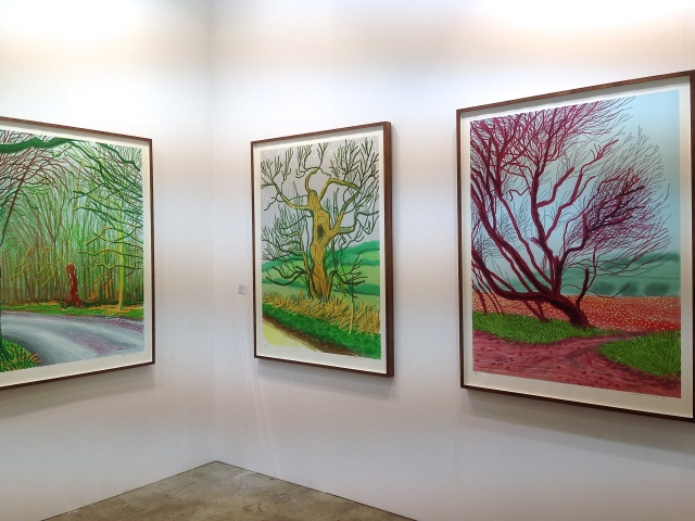 David Hockney iPad drawing prints at Annely Juda Fine Art.