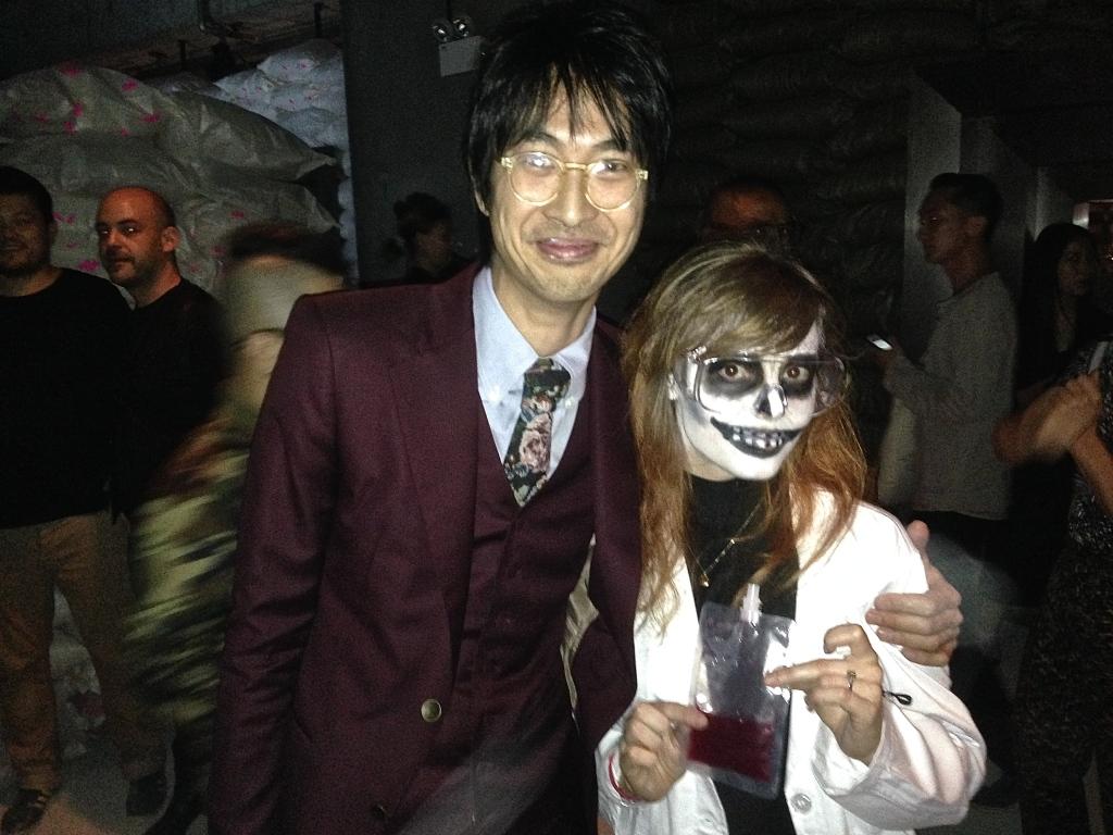 Hong Kong artist Adrian Wong and fiancé, Samatha Reid, at Apocalypse Postponed