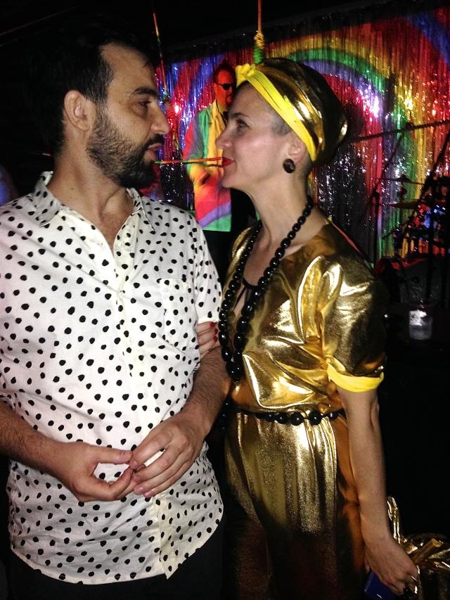 Ignacio Garcia and the dazzling HK designer Paola Sinisterra