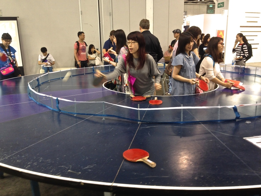 Lee Wen, 'Ping Pong Go-Round', in Encounters section.