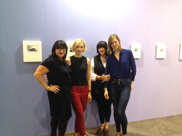 Melbourne reunion with (left to right):  gallerist Nellie Castan, me, gallerist Diane Tanzer and artist Natasha Bieniek.