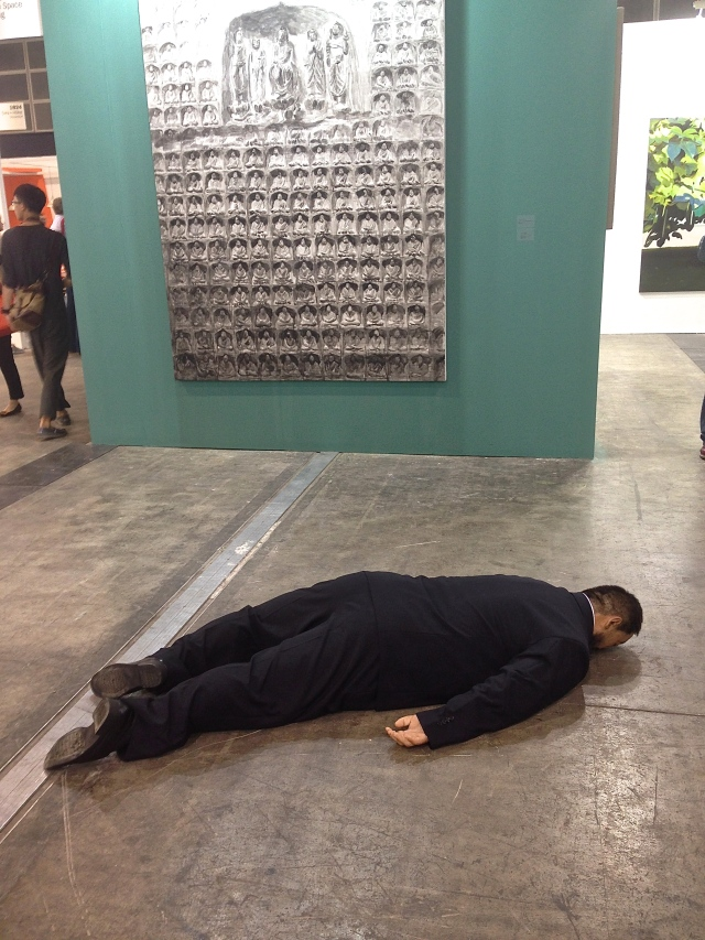 First casualty of HK art week, Ai Weiwei ('The Death of Marat' 2011, by He Xiangyu).