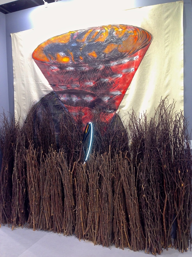 I love this work by Mario Merz ('Igloo con Vortice', 1981) at Mazzoleni Galleria d'Arte.