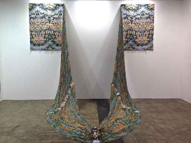 Aiko Tezuka textile work at Michael Janssen Gallery.