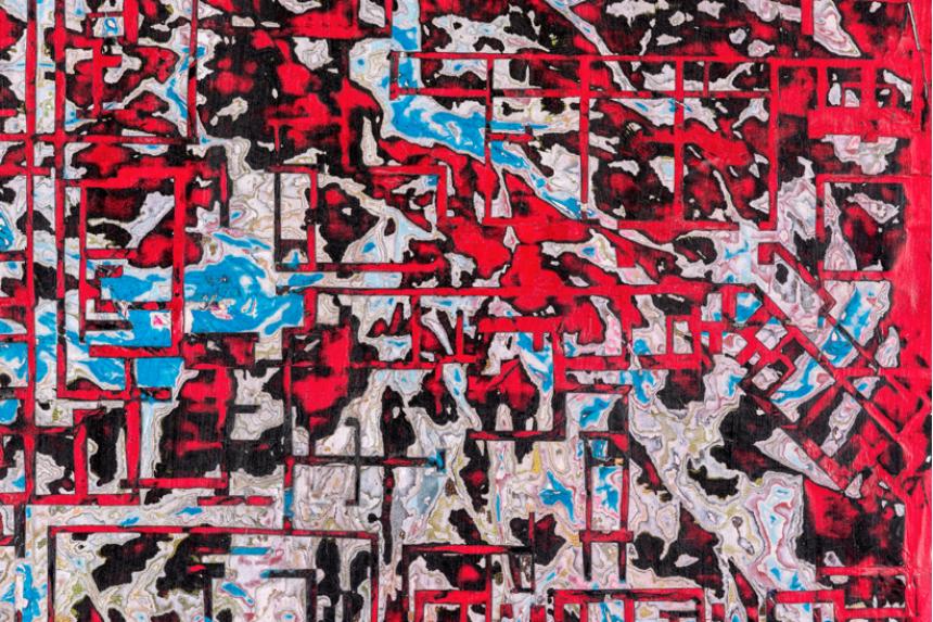 Mark Bradford, 'Grids Are Not Flat', 2014. Courtesy White Cube
