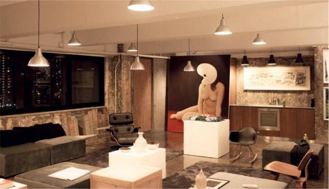 Alan Lau's studio. Photo by Oliver Clasper.