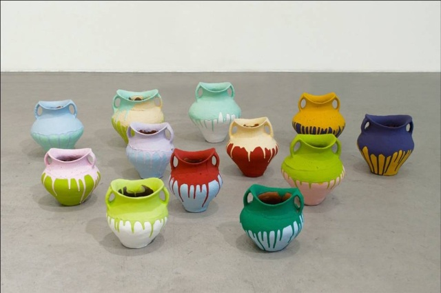 Ai Weiwei 'Colored Vases', 2007-2010. Courtesy of Alan Lau