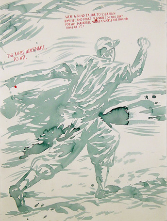 Raymond Pettibon,  'No Title (The right inalienable…)'.UBS Collection.
