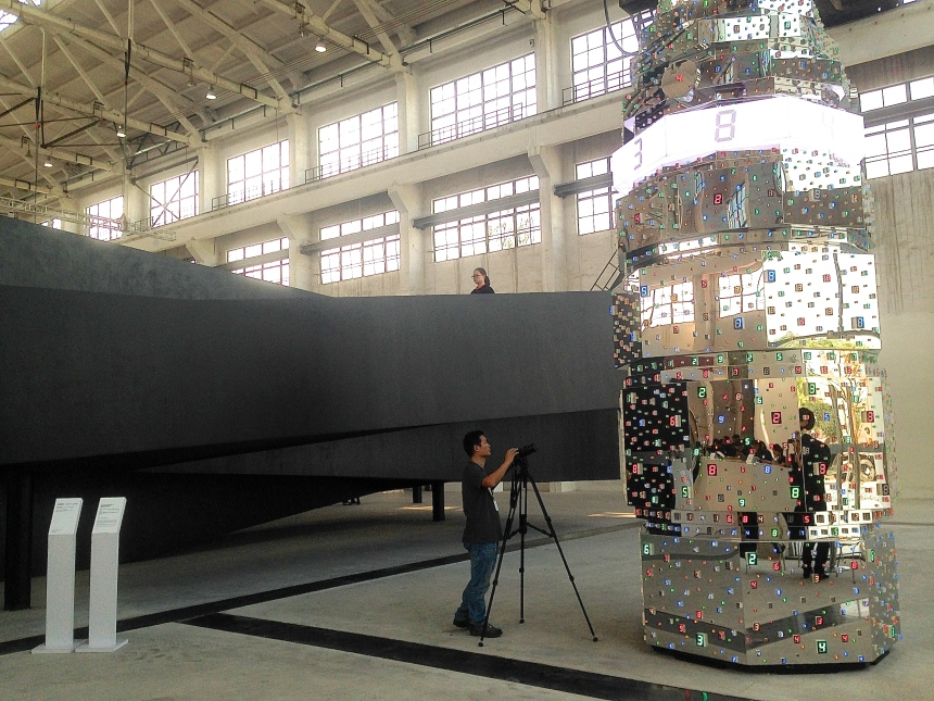 Installation by Tatsuo Miyajima, SCAI The Bathhouse, Toyko