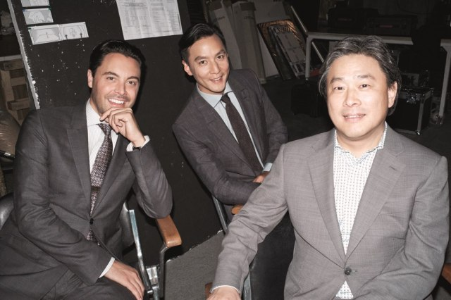 (L-R):  Jack Huston;Daniel Wu; director Park Chan-wook