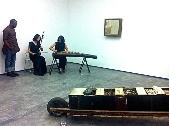 Theaster Gates performing at White Cube Hong Kong, 2013