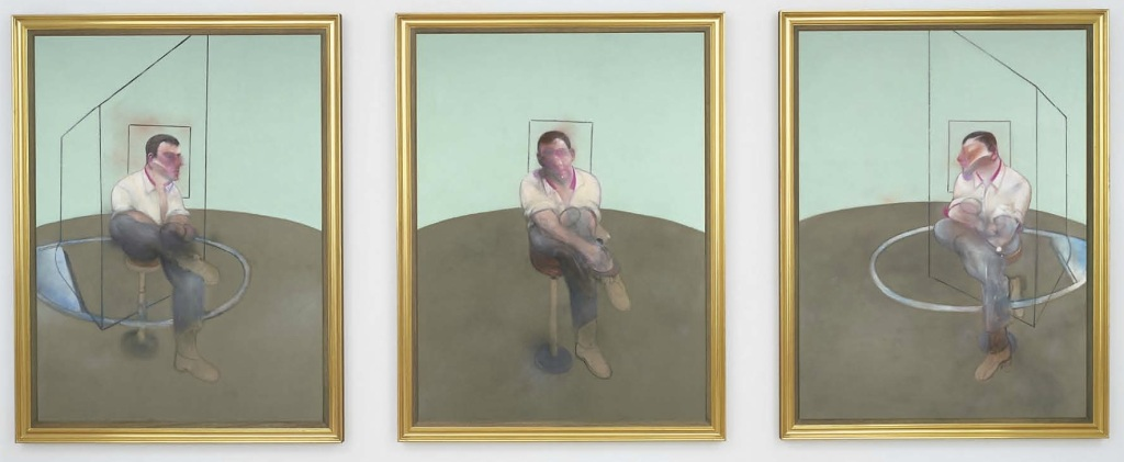 Francis Bacon's, 'Three Studies for a Portrait of John Edwards' (1984),  Christie's  NY, 2014