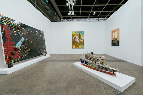 Installation view, David Zwirner booth at Art Basel in Hong Kong 2015. © Anakin Yeung & Ocula