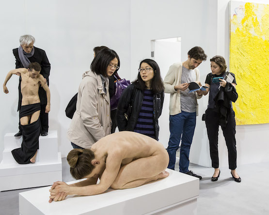 Installation view, Sam Jinks at Sullivan+Strumpf booth, Art Basel in Hong Kong 2015