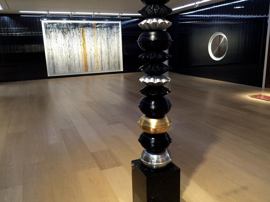 Installation view, Gregor Hildebrant, Coming by Hazard, at Galerie Perrotin, Hong Kong, 2015.